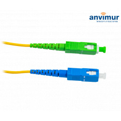 SC/APC - SC/UPC SM9/125 5M Ø 2mm fiber patch cable
