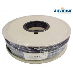 Cable Coaxial RG58 CU 50 Ohm | Carrete 100m. Negro