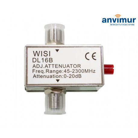 Atenuador Variable 0-20dBm RF+FI WISI