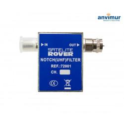 Filtro de rechazo enchufable 1 canal UHF