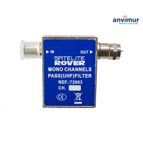 Pass filter 1 UHF channel