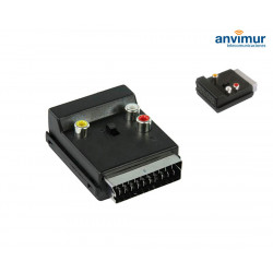 Adaptador Euroconector macho/hembra 3x RCA