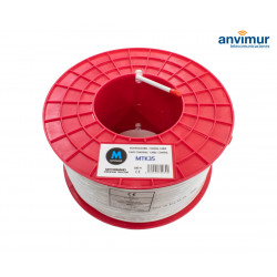 Coaxial Cable reel Ø6.7mm Copper ICT, White