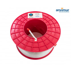 Coaxial Cable reel Ø6.7mm 100% Copper, White