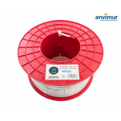 Coaxial cable reel copper-clad steel Ø6.8mm, White