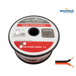 Cable Audio 100mts ROJO-NEGRO 2x0.75mm