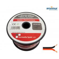 Cable Audio 100mts ROJO-NEGRO 2x1mm