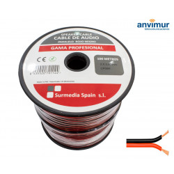 Cable Audio 100mts ROJO-NEGRO 2x2.50mm