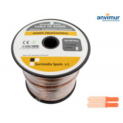 Audio Cable 100mts TRANSPARENT PARALLEL 2x2.50mm