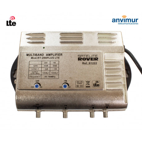 Multiband Central Amplifier. 2 input / 45dB / RT-200 PLUS LTE