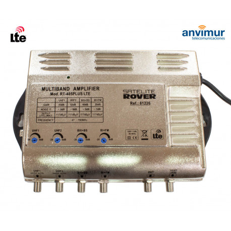 Multiband Central Amplifier. 4 input / 53dB / RT-405 PLUS LTE