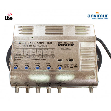 Multiband Central Amplifier. 5 input / 53dB / RT-407 PLUS LTE