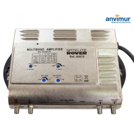 Multiband Central Amplifier. 2 input / TV 35dB - SAT 40dB / RS-600 PLUS