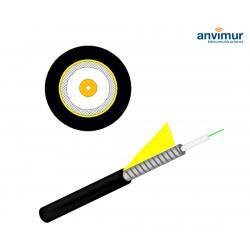 Armored Drop FTTH Cable spool, 1 fibre, Black