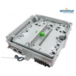 Caja Distribución para 20 Fusiones y 12 puertos de salida