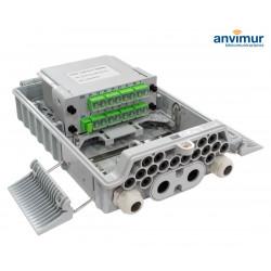 Caja Distribución para 16 Fusiones y 16 puertos de salida