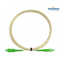 SC/APC - SC/APC 2M Ø 2mm fiber patch cord Cream color