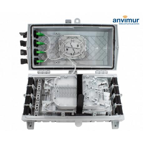 Torpedo Caja Horizontal Premium para 34 Fusiones y 8 Puertos de salida