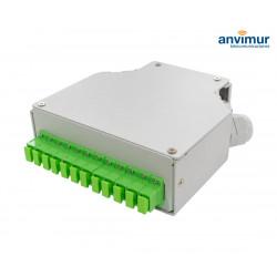 Caja Terminal tipo DIN con 12 puertos SC/APC Simplex