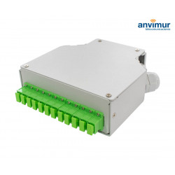 Terminal box DIN type with 12 ports SC/APC Simplex
