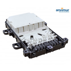 Vertical Enclosure 2+8 Ports and 18 Mergers