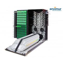 Distribuidor Patch Panel para 144 salidas SC/APC y 288 Fusiones