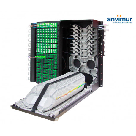 Distribuidor Patch Panel para 144 salidas SC/APC y 288 Fusiones