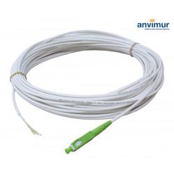 ACOMETIDA 40M Blanco Exterior 1 FO con conector