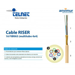 TELNET-FGP-16 F - Fiberglass and polyethylene coating (2 tubes x 8 fibers)