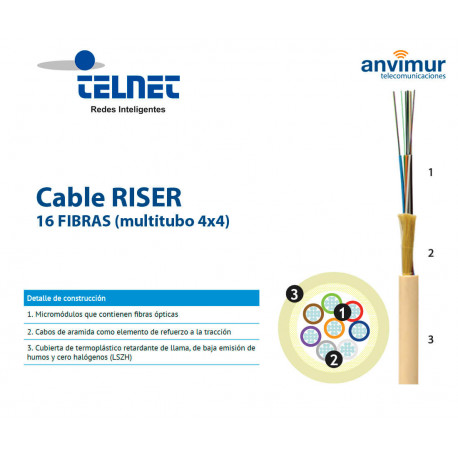 TELNET-FGP-16 F - Fiberglass and polyethylene coating (2 tubes x 8 fibers)