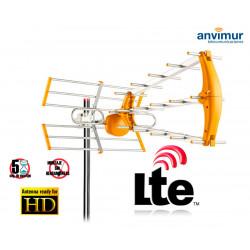 Antena TDT 15dBi HD con Filtro 5G LTE700 SMT805G