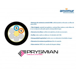 PRYSMIAN-FTP-96 F - Fiberglass and polyethylene coating (12 tubes x 8 fibers)