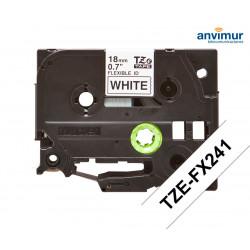 Flexible Tape WHITE on BLACK text 18mm