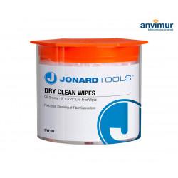 Toallitas húmedas para limpiar la fibra