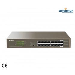 Switch 16 puertos Gigabits con 16 puertos PoE | TENDA
