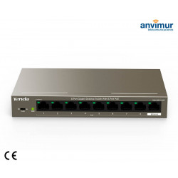 Switch 9 puertos Gigabits con 8 puertos PoE | TENDA