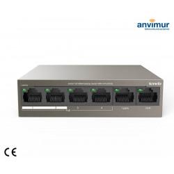 Switch 6 puertos 10/100M con 4 puertos PoE | TENDA