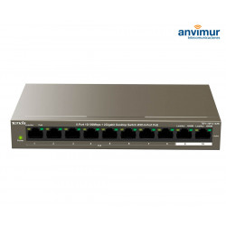 Switch 8 puertos 10/100M con PoE y 2 puertos Gigabit | TENDA