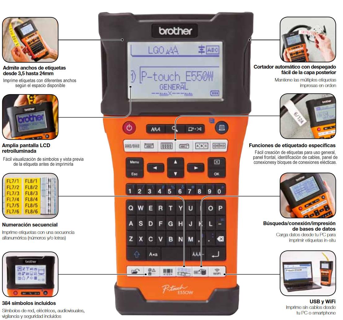 Rotuladora electronica P-Touch E550W