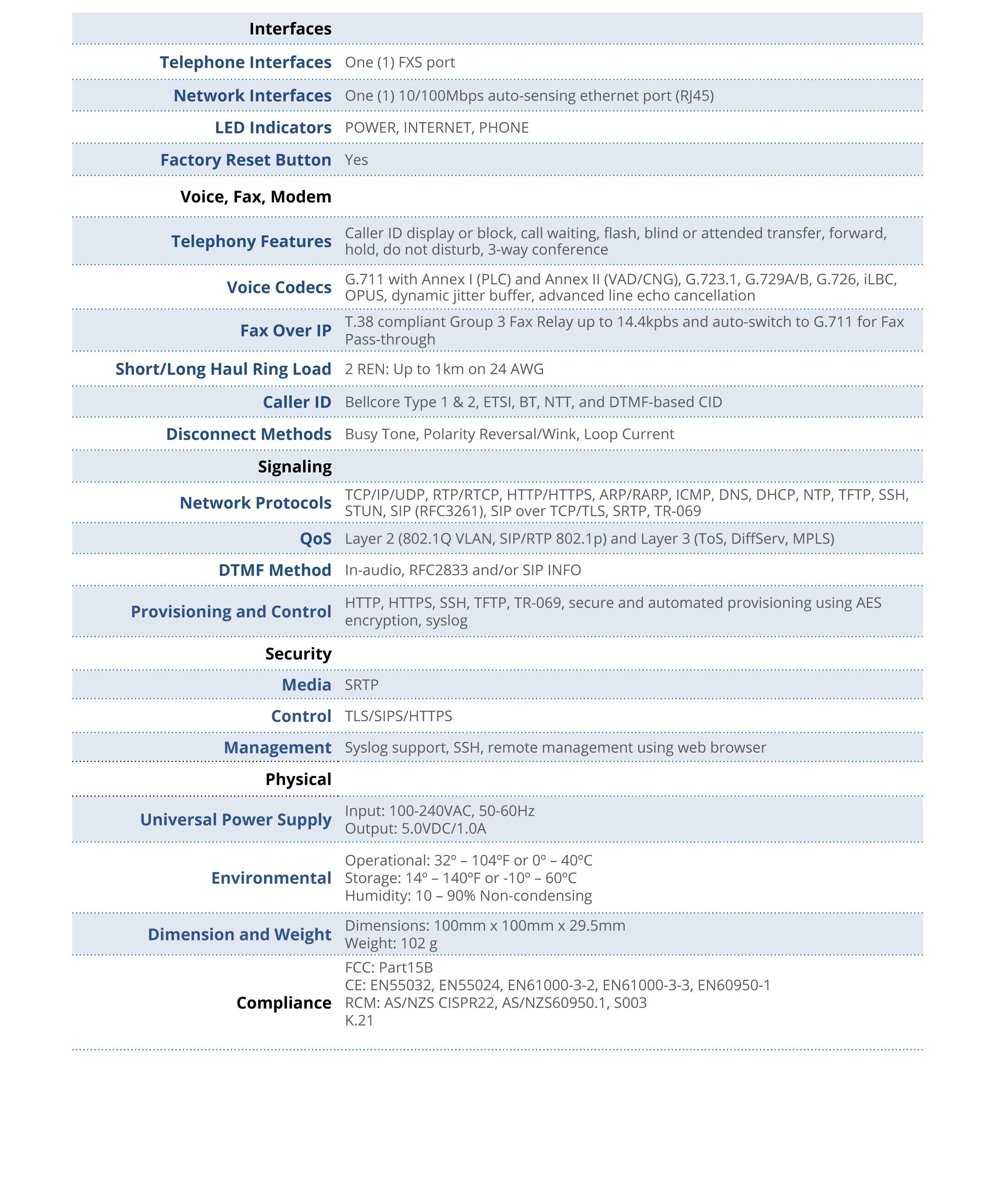 Gateway Grandstream ATA HT801 (1 FXS)   Anvimur