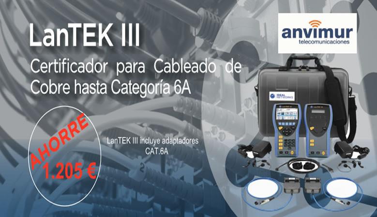 Promocion Anvimur Lantek III Certificador de Red